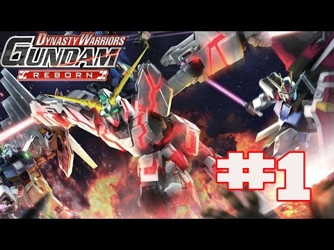 Dynasty Warriors: Gundam Reborn - English Walkthrough Part 1 Mobile Suit Gundam [HD]