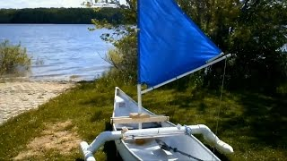 How To Make A Sail 4 Canoe Kayak Dinghy Or Rowboat