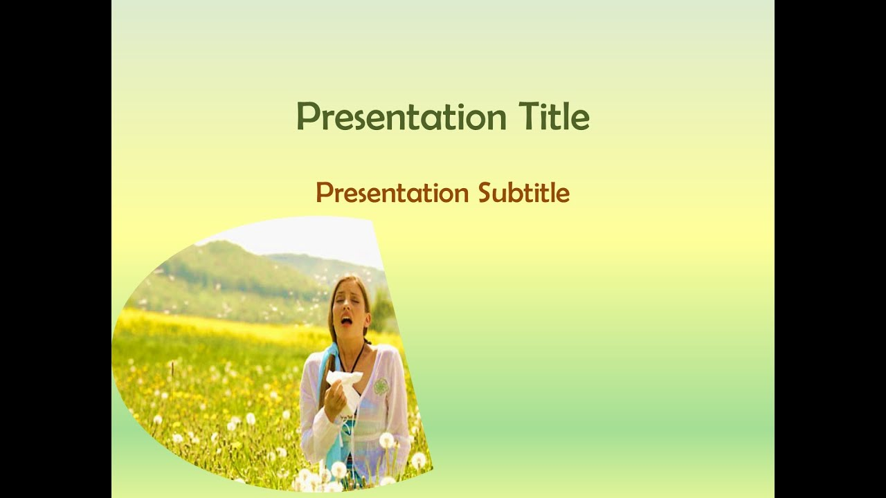 immunology & allergy powerpoint template - free download - youtube, Powerpoint templates