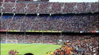 """""""волна"""" на стадионе (stadium wave) Camp Nou"""