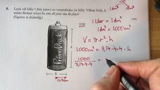 Matte NP åk 9  D delen 2011 del 4 NP Nationella prov fråga 8-9