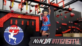 when she Runs a UNAA Course Qualifier at Ninja Intensity - Tie-Dye Ninja 3rd Place!!!