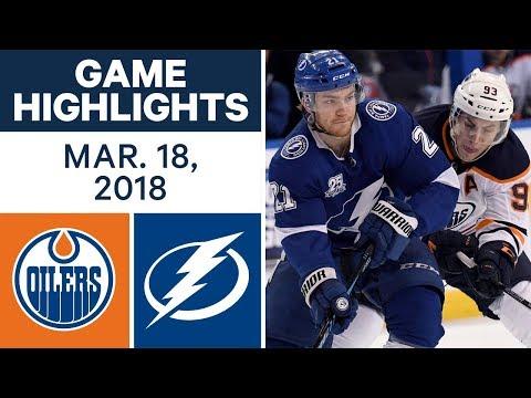 NHL Game Highlights | Oilers vs. Lightning - Mar. 18, 2018