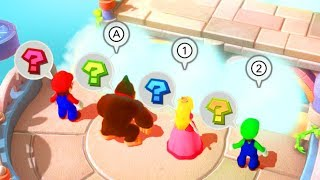 Mario Party 10 - Mario vs Donkey Kong vs Peach vs Luigi - Minigames