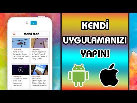 Kod Kullanmadan Mobil Uygulama Nasıl Yapılır ? - Android&İOS Uygulama Yapma !!