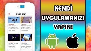 Kod Kullanmadan Mobil Uygulama Nasıl Yapılır AndroidİOS Uygulama Yapma