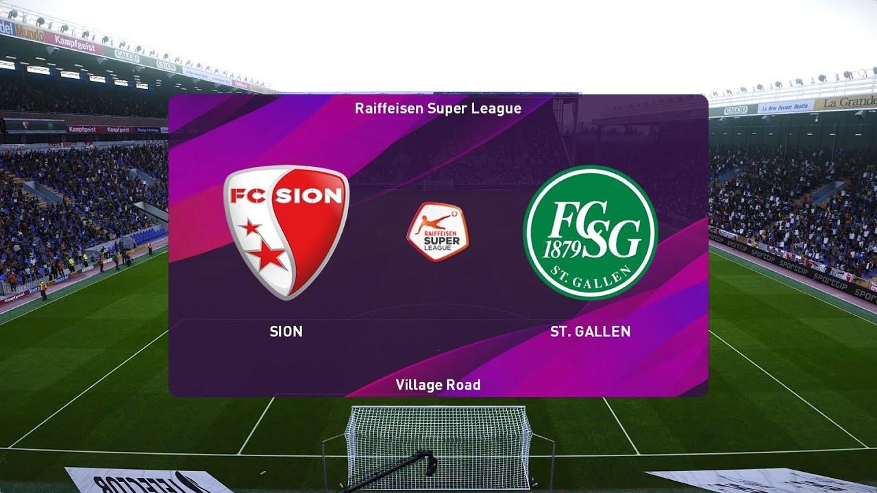 Download PES 2020 | Sion vs St. Gallen - Raiffeisen Super League | 20/06/2020 | 1080p 60FPS