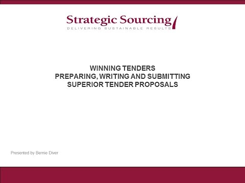 NZTE Attachment WINNING TENDERS training material