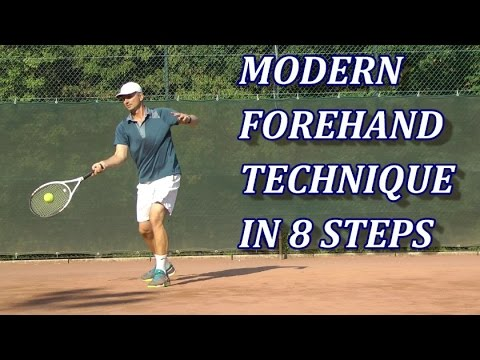 Modern Tennis Forehand Technique In 8 Steps Youtube