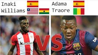 Inaki Williams vs Adama Traore | Goals, Skills + Assists | Spain U21 + U19