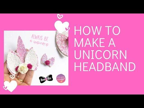 DIY Easy Unicorn Headband- How to make a Unicorn Flower Crown Hair Band