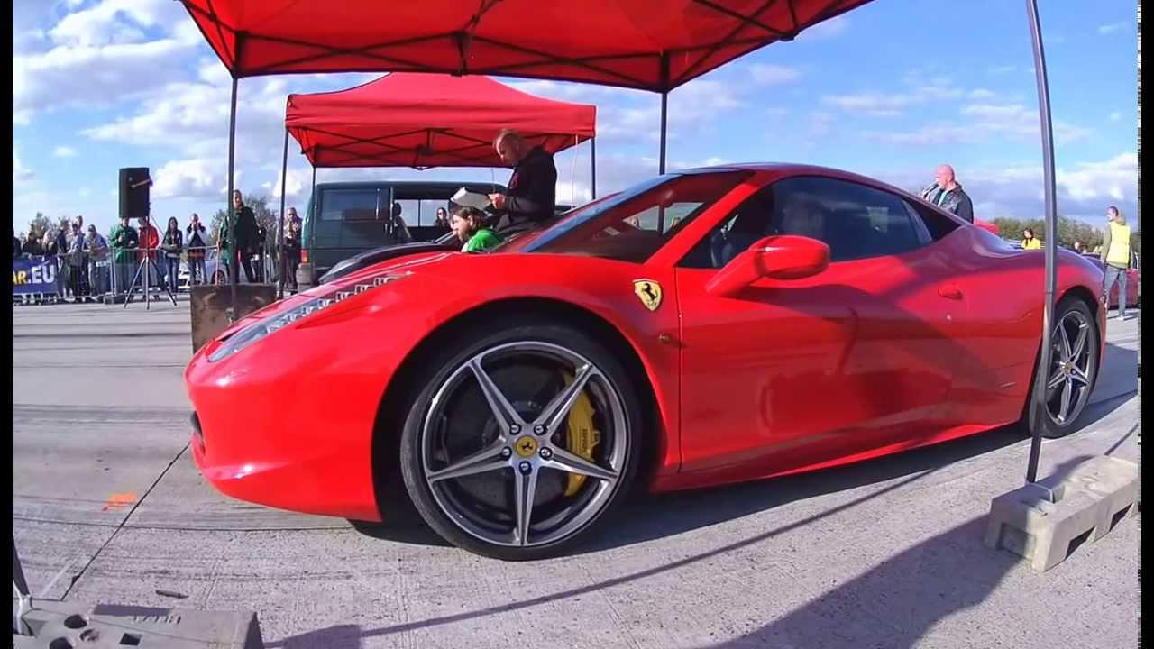 Ferrari 458 Italia Vs Fiat Coupe 2 0turbo 20v Youtube