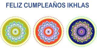 Ikhlas   Indian Designs - Happy Birthday