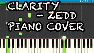 Clarity - Zedd ft. Foxes (Synthesia - Piano cover)