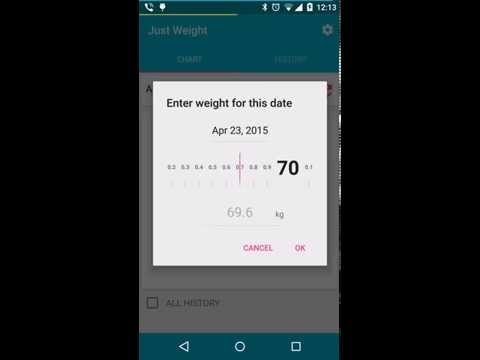 Android App. Just Weight - easy in use app for control your weight