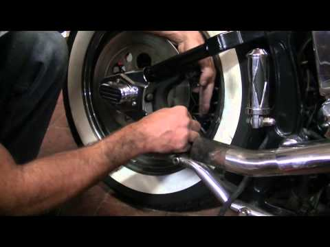 When To Replace Brake Pads >> Replace rear brakes pads softail heritage EVO - YouTube