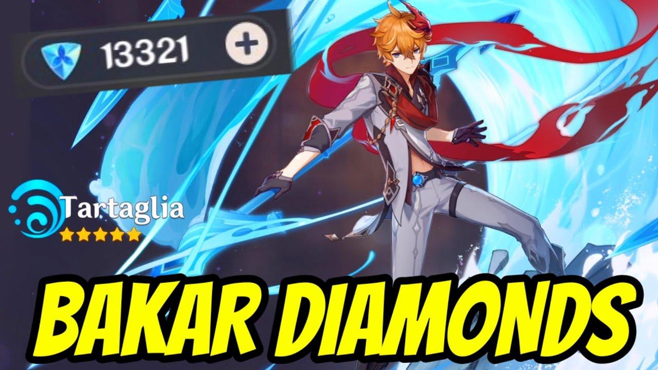 PERTAMA KALI BAKAR DIAMONDS 1.5 JUTA HOKI PARAH - GENSHIN IMPACT