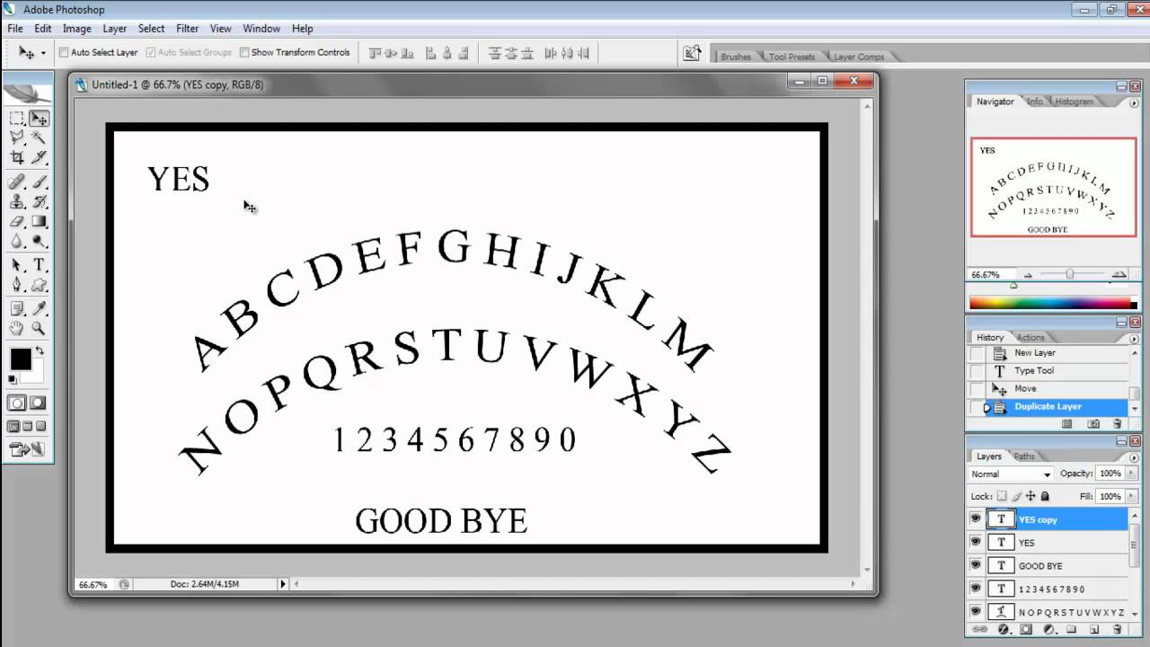 Ouija Board Photoshop