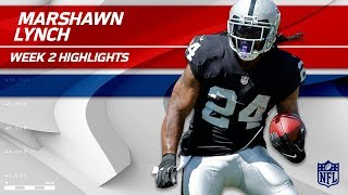 Marshawn Lynch Continues to Shine in Oakland! | Jets vs. Raiders | NFL Wk 2 Player Highlights