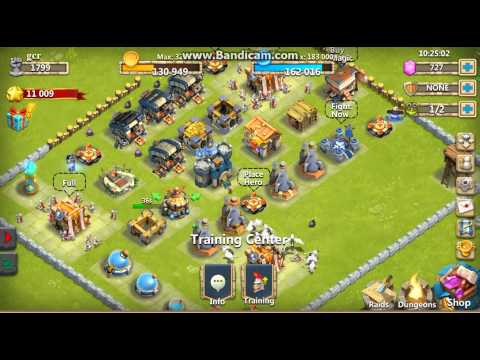 Castle Clash Town Hall   Training Center  Heros Alerts UPDATING