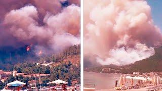 Чудовищные пожары на турецких курортах. Погиб один человек
