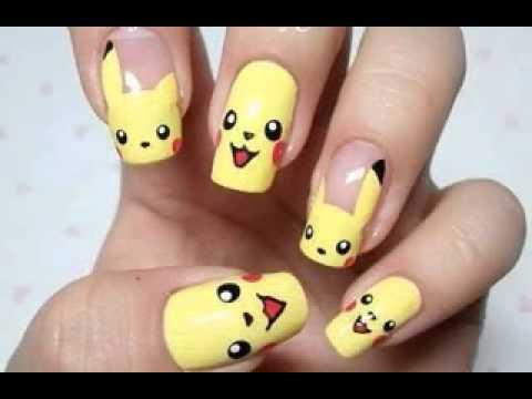beautiful cartoon nail art