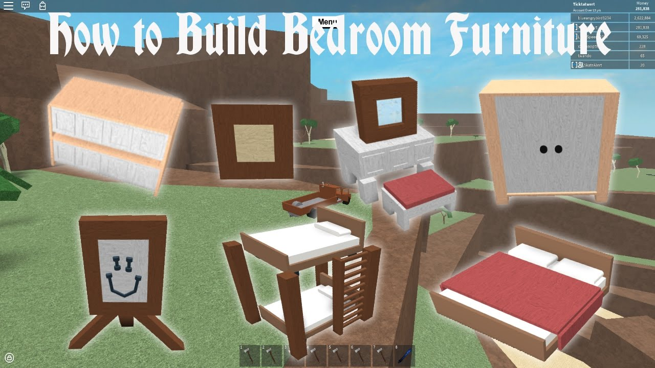Lumber tycoon 2 | How to Build BedRoom Furniture - YouTube