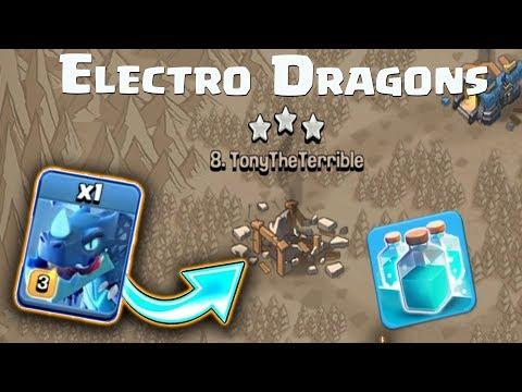 Mass Electro Dragon Town Hall 12 Gameplay | New Electro Dragons