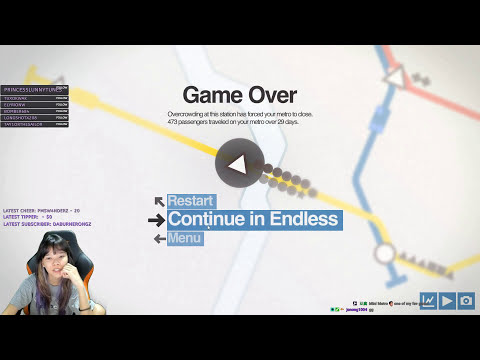 Playthrough - Unlocking Mini Metro Maps!