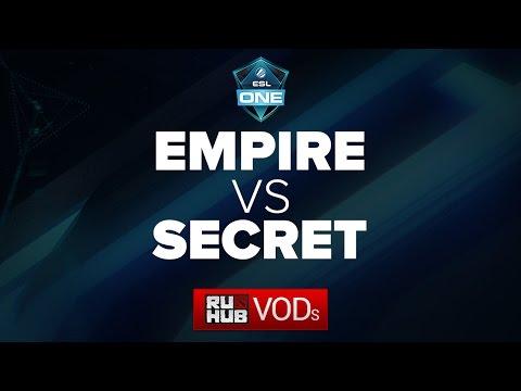 Empire vs Secret,vs  ESL One Manila LAN Finals, game 2