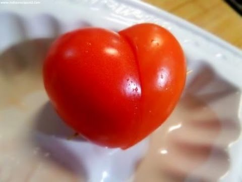 Get How To Make Heart Shaped Tomato's   Heart Shaped Tomato (Vegetable Carving) Pics