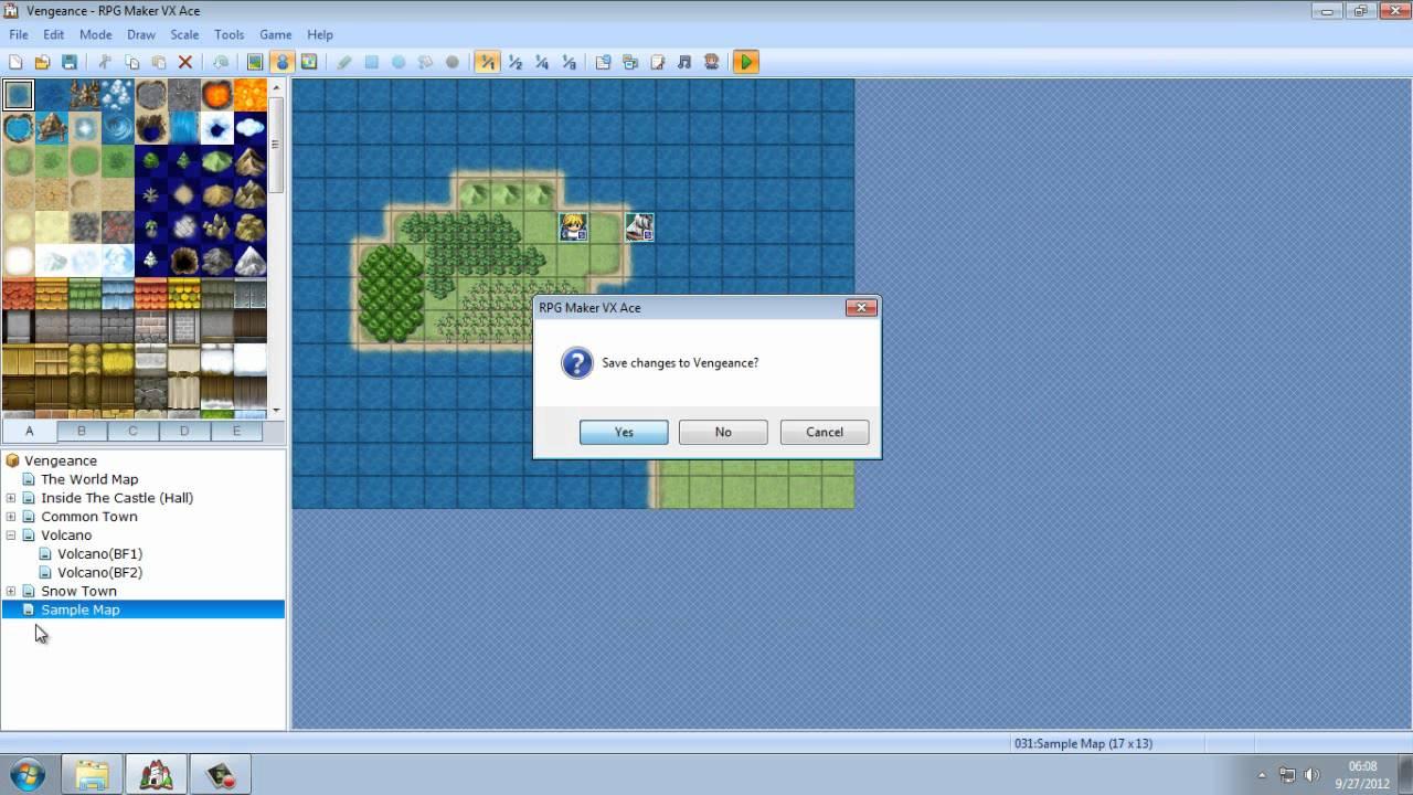 Bm Rpg Maker Scripts: RPG Maker VX Ace Tutorial Part2 Maps, Regions, Teleports