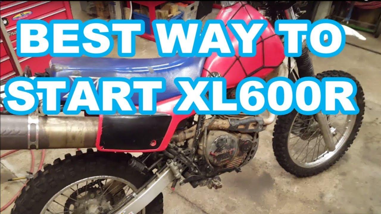 best way to start honda xl600r 1983 1987 xl 600r xr 600 xr600r kickstart [ 1280 x 720 Pixel ]