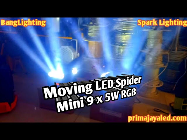 Moving LED Spider Mini 9 x 3W RGB