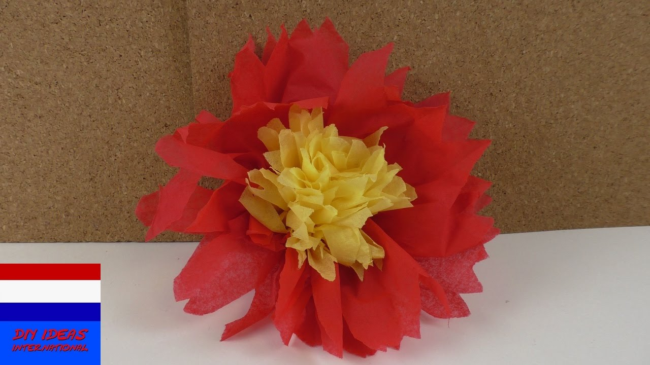 Nieuw servetten vouwen | bloemen van servetten met 2 kleuren RT-23
