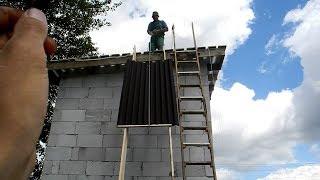Как сделать односкатную крышу в своем доме ч.2