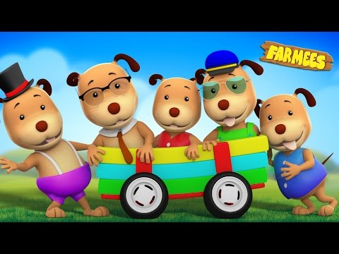 Thumbnail: Five Little Dogs | Dog Song | Nursery Rhymes For Children