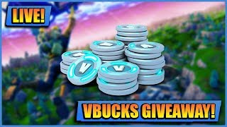 VBUCKS GIVEAWAY! // FORTNITE LIVE // PLAYING WITH SUBS