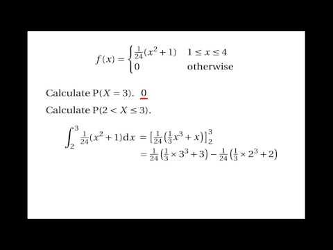 Continuous Random Variables: Probability Density Functions