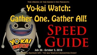 FFXIV / Yo-kai Watch Crossover Event Guide (2016)