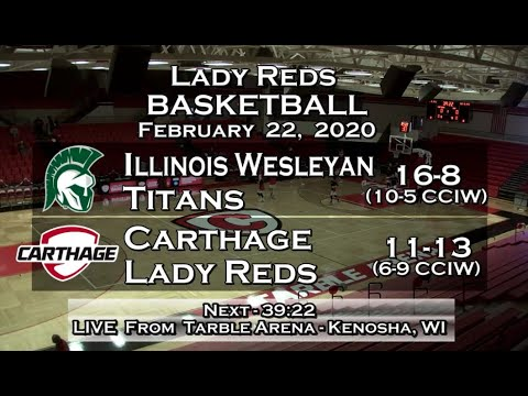 Carthage Women's Basketball Vs. Illinois Wesleyan 2020_2_22