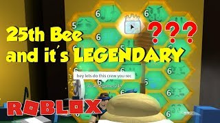 ROBLOX Bee Swarm Simulator - 25th Bee and it's Legendary - OMG! 😲😲😲