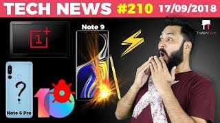 Redmi Note 6 Pro Full Details, RealMe 2 Pro Leaked, OnePlus TV, Note 9 Burst, iOS12-TTN#210