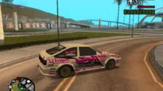 GTA San Andreas: Drift in turns with Toyota Trueno AE86