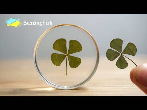 🍀Four-leaf Clover in Resin🍀 - Resin Crafts