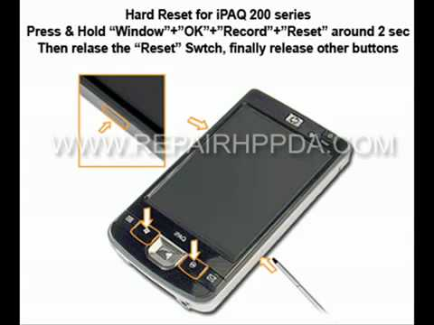Soft & Hard Reset for HP iPAQ 210, 211, 212, 214, 216