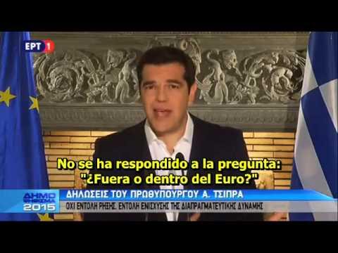 Discurso de Tsipras tras la victoria del NO