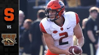 Syracuse vs. Western Michigan Football Highlights (2018)