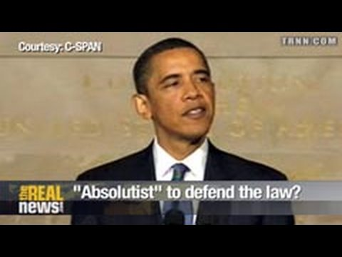 """Absolutist"" to defend the law?"
