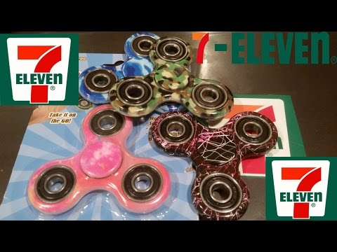 Thumbnail: 7-Eleven Tie Dye Fidget Spinners unboxing, review, and giveaway.